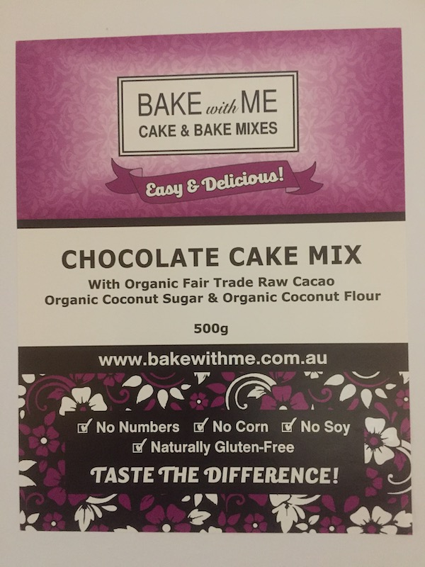 Label Chocolate Cake Mix - Bake With Me copy