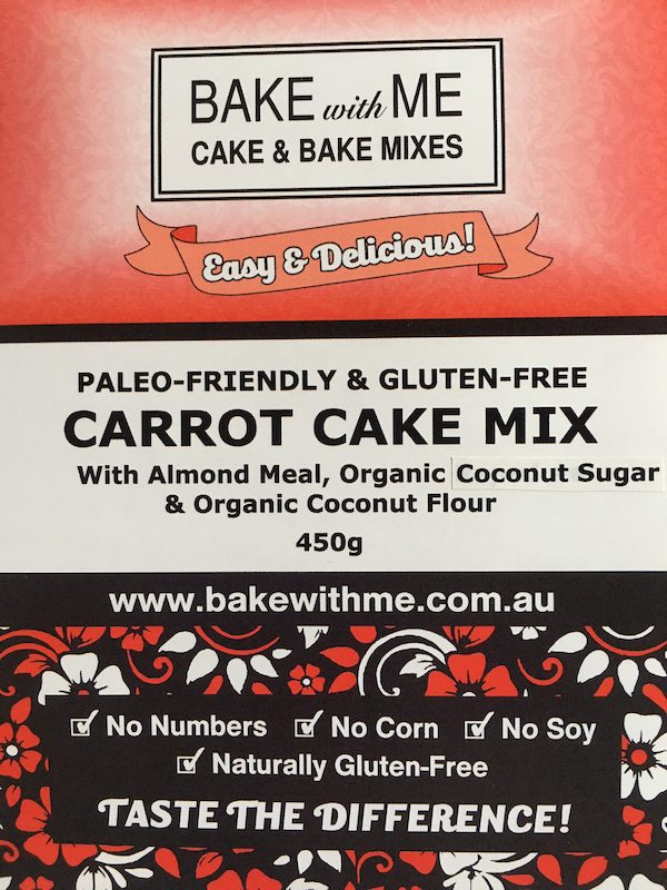 Label Paleo Carrot Cake Mix - Bake With Me copy